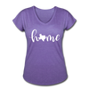 Texas Home Women's Tri-Blend V-Neck T-Shirt - purple heather