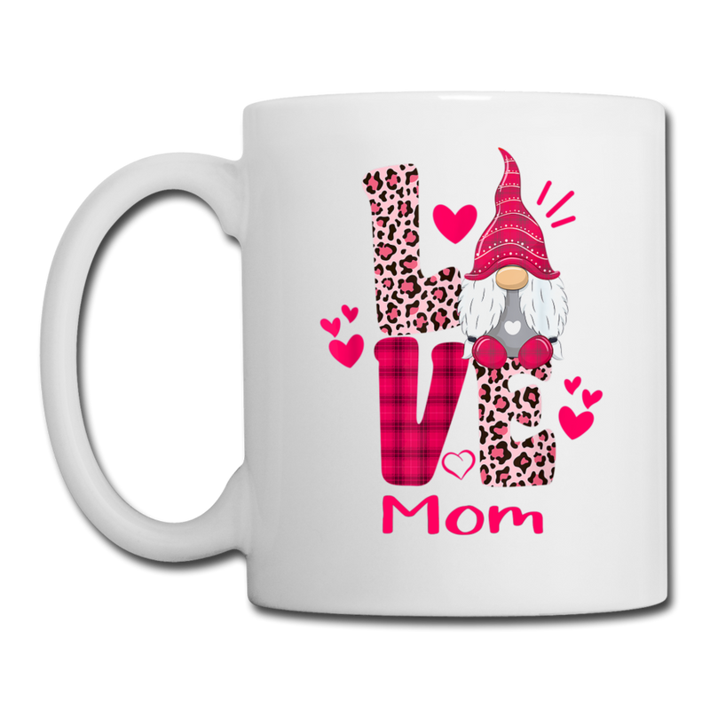 Gnome Mom Love Coffee/Tea Mug - white