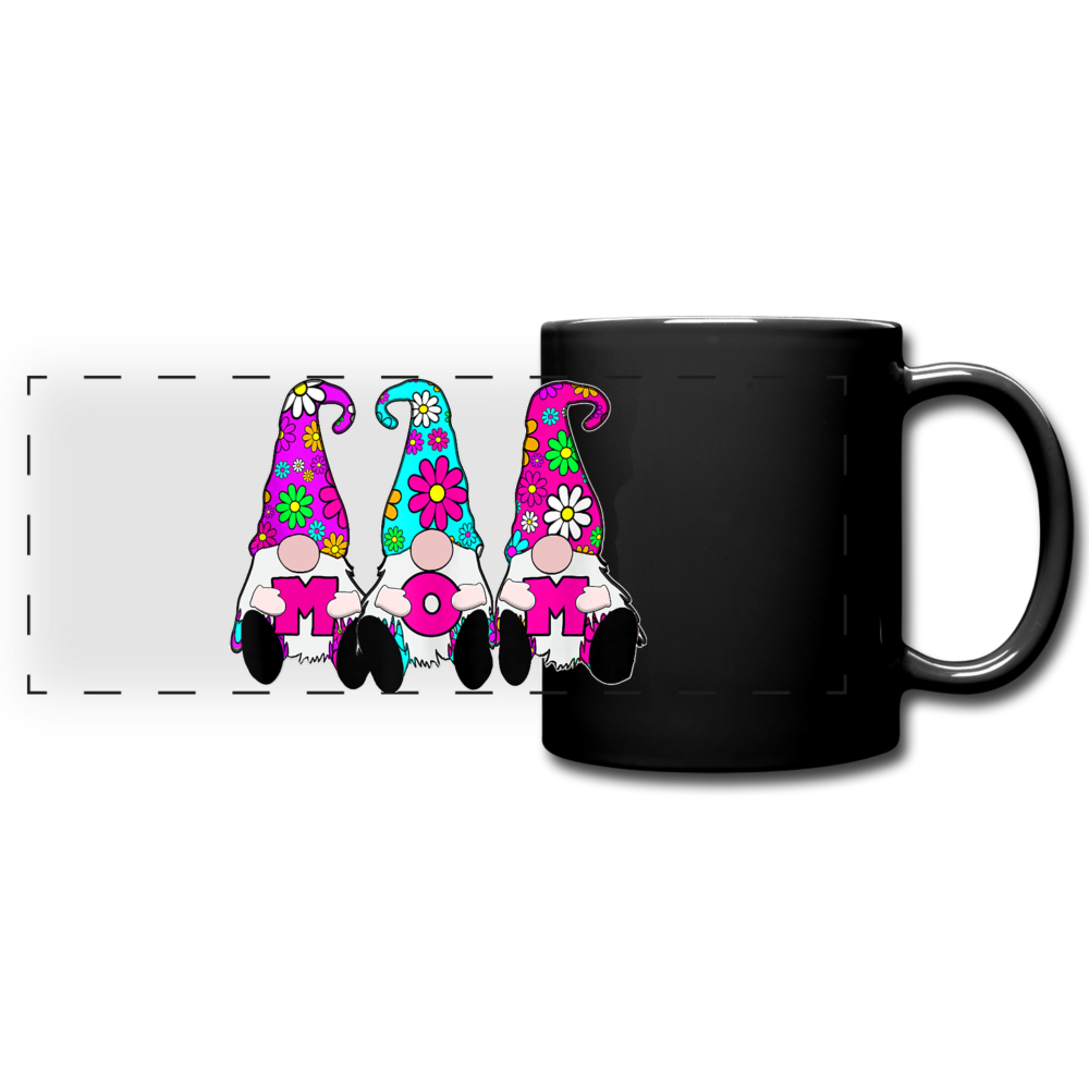 Gnome Mom Trio Full Color Panoramic Mug - black