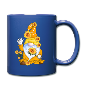 Sunflower Gnome Full Color Mug - royal blue