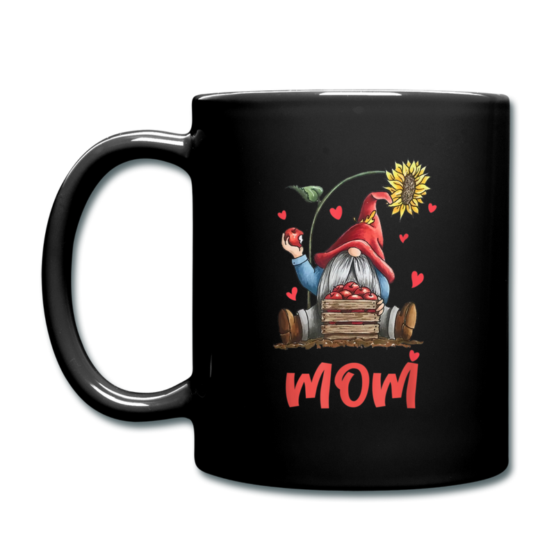 Gnome Mom Sunflower Apples Full Color Mug - black