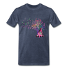 Gnome Pink Ribbon Breast Cancer Awareness Premium T-Shirt - heather blue