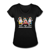Gnome Peace Hope Love Autism Awareness Women's Tri-Blend V-Neck T-Shirt - black