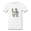 Gnome Love Autism Awareness Premium T-Shirt - white