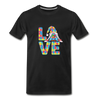 Gnome Love Autism Awareness Premium T-Shirt - black