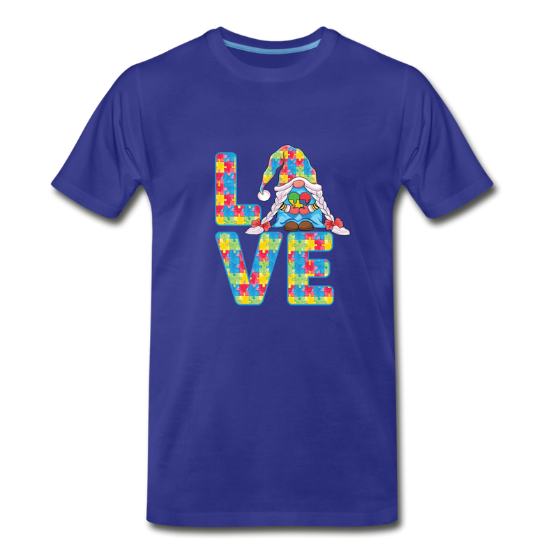 Gnome Love Autism Awareness Premium T-Shirt - royal blue