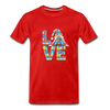 Gnome Love Autism Awareness Premium T-Shirt - red