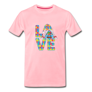 Gnome Love Autism Awareness Premium T-Shirt - pink