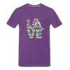 Gnome Love Autism Awareness Premium T-Shirt - purple