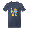 Gnome Love Autism Awareness Premium T-Shirt - heather blue