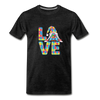 Gnome Love Autism Awareness Premium T-Shirt - charcoal gray