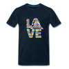Gnome Love Autism Awareness Premium T-Shirt - deep navy