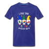 I Love You Gnome Matter What Autism Awareness Premium T-Shirt - royal blue