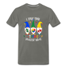 I Love You Gnome Matter What Autism Awareness Premium T-Shirt - asphalt gray