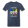I Love You Gnome Matter What Autism Awareness Premium T-Shirt - heather blue