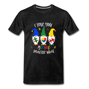 I Love You Gnome Matter What Autism Awareness Premium T-Shirt - charcoal gray