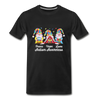 Gnome Peace Hope Love Autism Awareness Premium T-Shirt - black