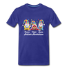 Gnome Peace Hope Love Autism Awareness Premium T-Shirt - royal blue
