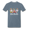 Gnome Peace Hope Love Autism Awareness Premium T-Shirt - steel blue