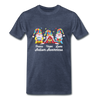 Gnome Peace Hope Love Autism Awareness Premium T-Shirt - heather blue