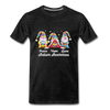 Gnome Peace Hope Love Autism Awareness Premium T-Shirt - charcoal gray