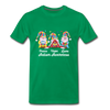 Gnome Peace Hope Love Autism Awareness Premium T-Shirt - kelly green