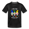 I Love You Gnome Matter What Autism Awareness Kids' Premium T-Shirt - charcoal gray