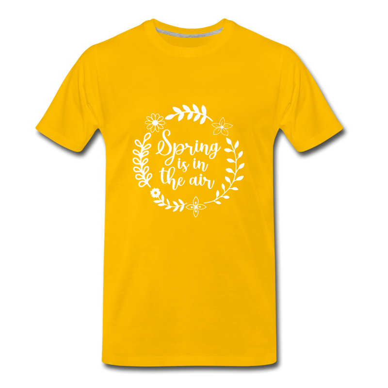 Spring is in the Air Premium T-Shirt - sun yellow