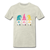 Spring Gnome Trio Premium T-Shirt - heather oatmeal