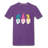 Spring Gnome Trio Premium T-Shirt - purple