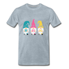 Spring Gnome Trio Premium T-Shirt - heather ice blue