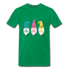 Spring Gnome Trio Premium T-Shirt - kelly green