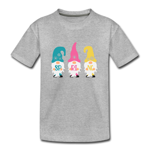 Spring Gnome Toddler Premium T-Shirt - heather gray
