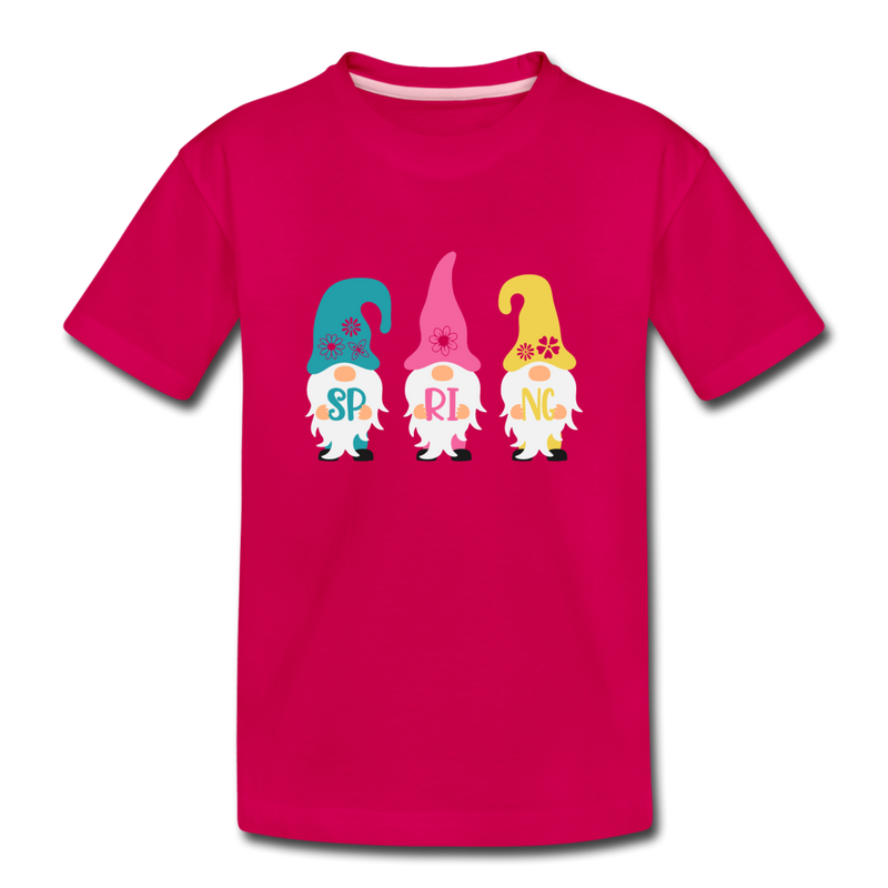 Spring Gnome Toddler Premium T-Shirt - dark pink