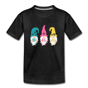 Spring Gnome Toddler Premium T-Shirt - charcoal gray
