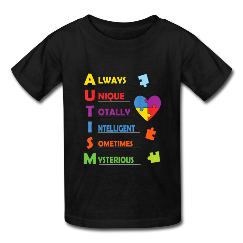 Autism Hanes Youth Tagless T-Shirt - black
