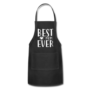 Best Mom Ever Adjustable Apron - black