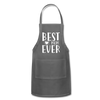 Best Mom Ever Adjustable Apron - charcoal