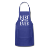 Best Mom Ever Adjustable Apron - royal blue