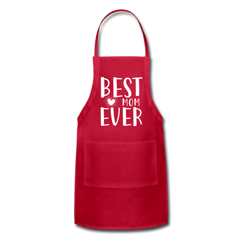Best Mom Ever Adjustable Apron - red