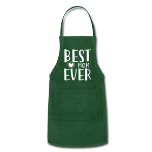 Best Mom Ever Adjustable Apron - forest green