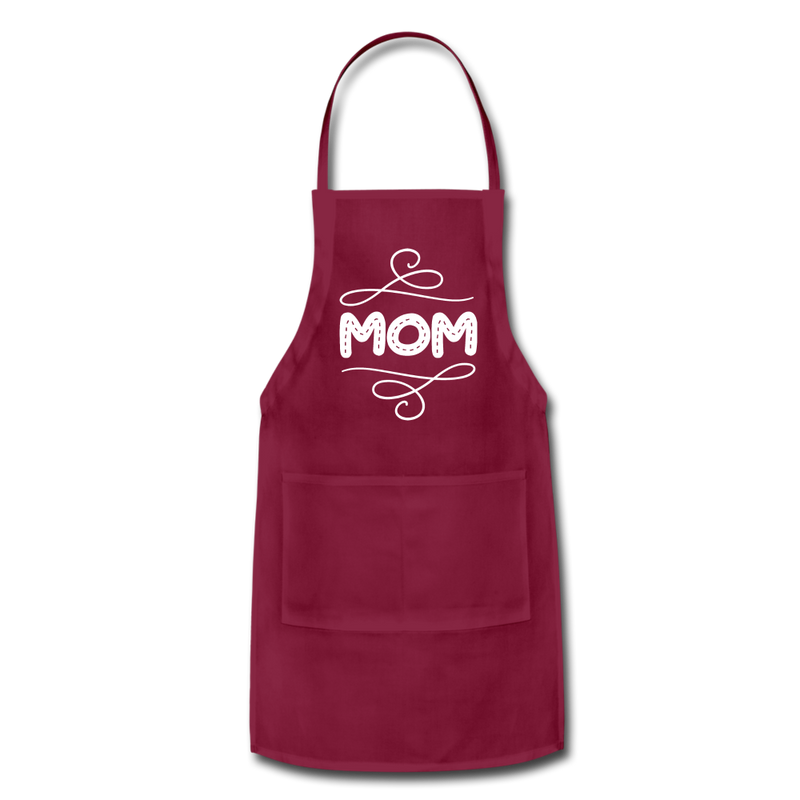 Mom Adjustable Apron - burgundy