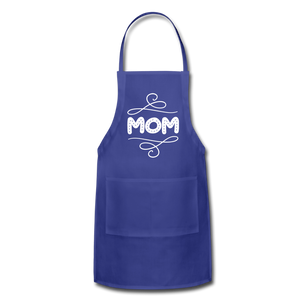 Mom Adjustable Apron - royal blue