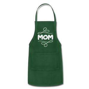 Mom Adjustable Apron - forest green