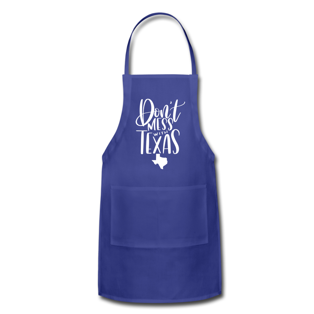 Don't Mess With Texas Adjustable Apron - royal blue
