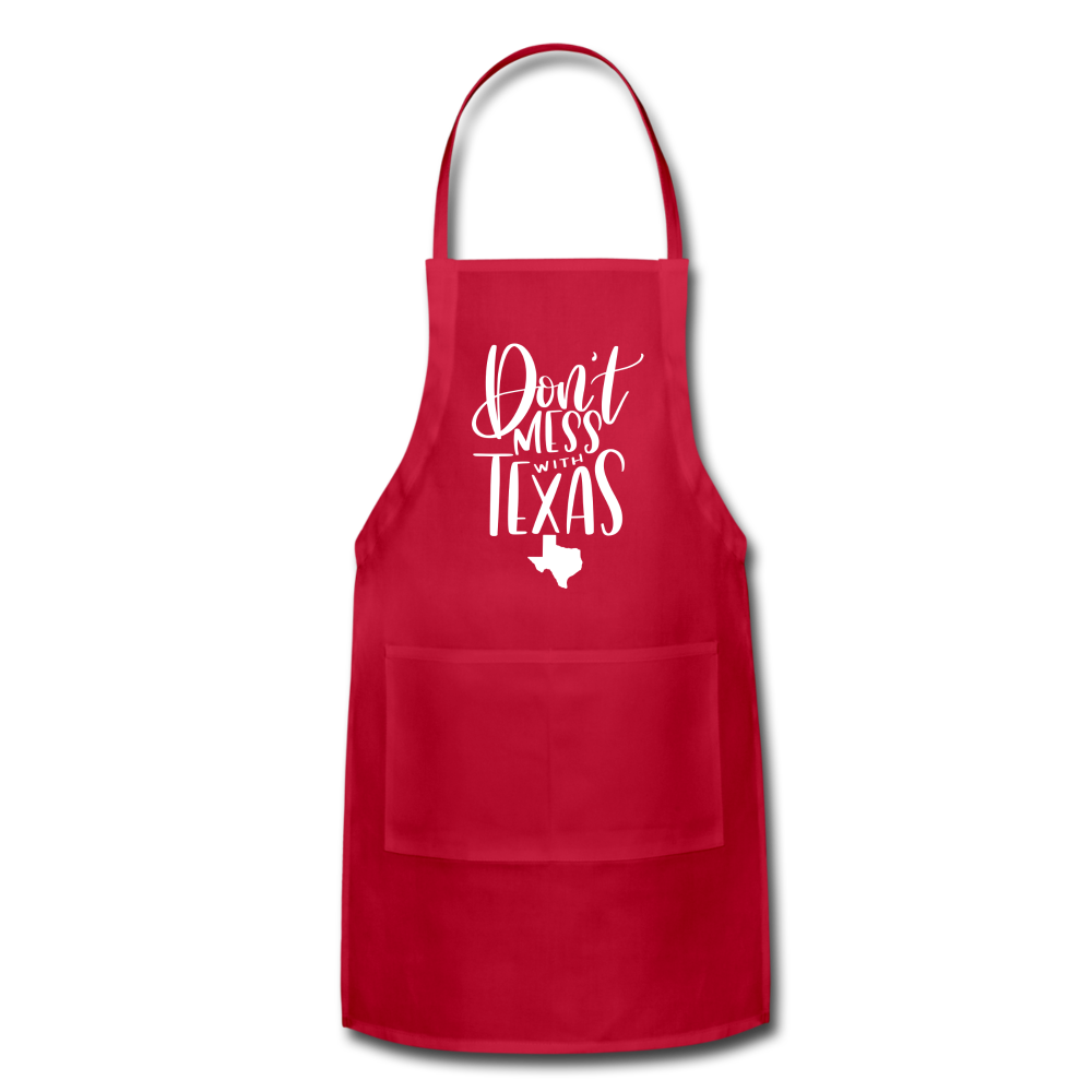 Don't Mess With Texas Adjustable Apron - red
