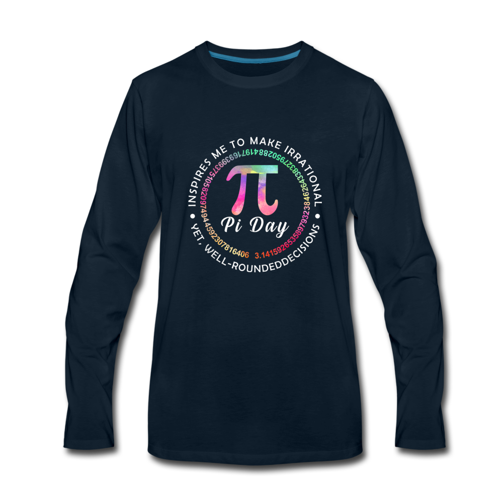 Pi Day Premium Long Sleeve T-Shirt - deep navy