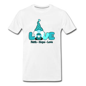 Gnome Faith Hope Love Premium T-Shirt - white