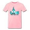 Gnome Faith Hope Love Premium T-Shirt - pink