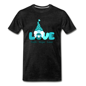 Gnome Faith Hope Love Premium T-Shirt - charcoal gray